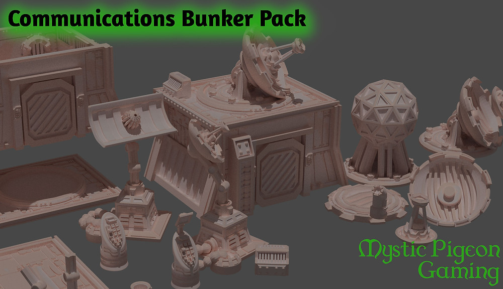 Communications bunker pack home 3d printing (Mystic Pigeon Gaming)