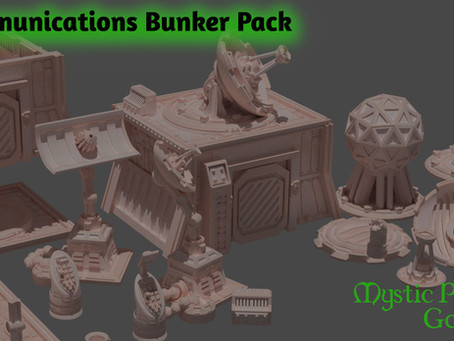 Sci Fi communications bunker array home 3d printing