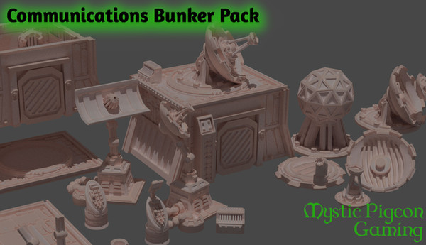 Communications bunker set for home 3d printing fro Mystic Pigeon Gaming