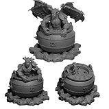 Cauldron miniatures including demonic summoning cauldron