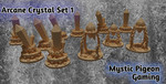 Buy STL Arcane Crystals / Ritual Crystals (3d home printing) from Mystic Piegon Gaming