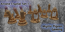 STL Arcane Crystals / Ritual Crystals (3d home printing)