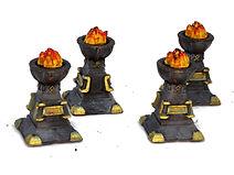 dnd ornate brazier resin miniatures / tabletop terrain