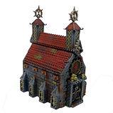 Crypt/Church graveyard tabletop terrain (D&D / Warhammer)