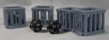 Dice Jails for misbehaving dice (D&D Novelty item)