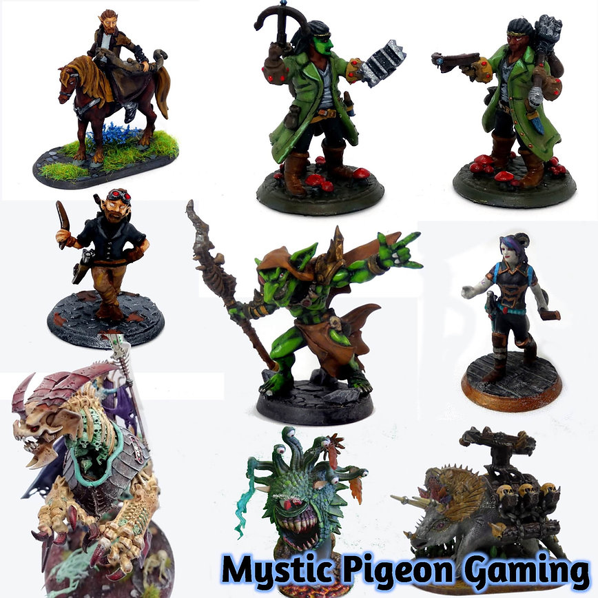 Heroforge mini printing and painting service from Mystic Pigeon Gaming