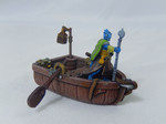 Buy Miniature row boat with oars and lantern poles (28 mm scale) from Mystic Piegon Gaming