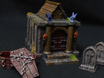 Buy Graveyard crypt terrain building with removable walls and roof from Mystic Piegon Gaming