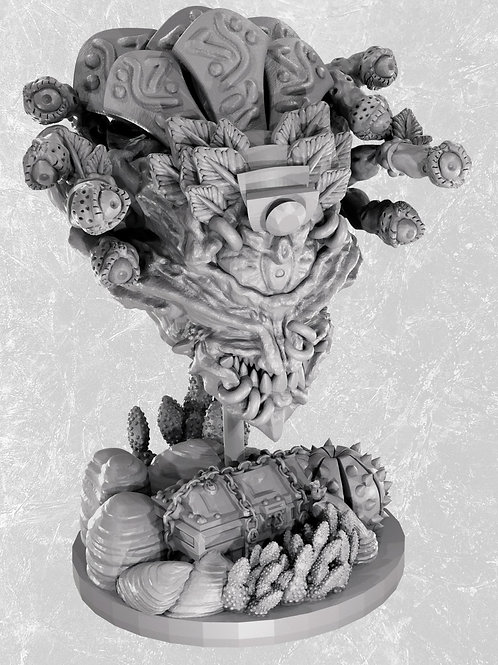 Aztec Eye Beast Miniature for D&D (STL for home 3D printing)