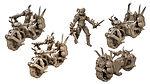 Buy Infernal War Bike Resin Miniature (Warhammer 40, Dungeons and Dragons, Gaslands) from Mystic Piegon Gaming