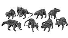 dnd Giant Dire Rats (resin miniatures)
