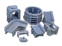 Industrial convertor belt and processing terrain set (protein recliminator)