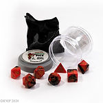Buy DUAL DICE - RED & BLACK from Mystic Piegon Gaming