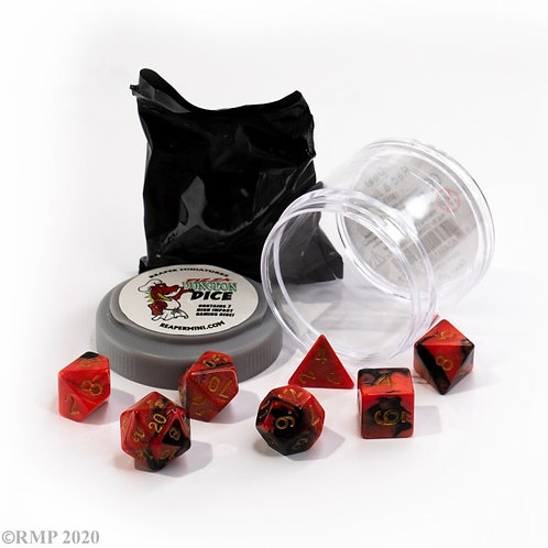 DUAL DICE - RED & BLACK