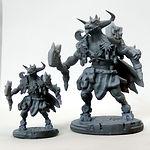 Buy Minotaur sun and moon guardian resin miniature from Mystic Piegon Gaming