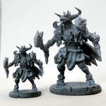 Buy Minotaur sun and moon guardian resin miniature from Mystic Piegon Gaming