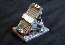 Biobed - run down medical bay (resin miniature)