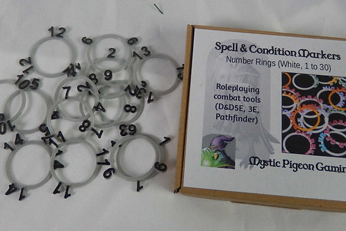 Numbered marker rings for tabletop games