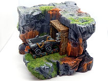 Abandoned mine tabletop diorama (D&D, Warhammer, 40k, AoS)