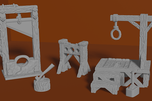 Executioners set (Tabletop miniatures for home 3d printing)