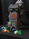 Wizards keep dice tower with dice storage compartment