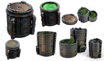 Buy Chemical Vats 3D table top terrain from Mystic Piegon Gaming