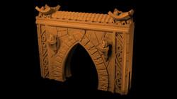 Gate 1 Myth Drannor walls from Mystic Pi