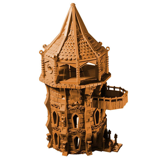 Elf Tower Render from Mystic Pigeon gaming for home 3D printing.