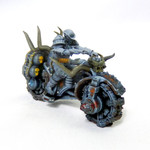 Buy Infernal War Bike Resin Miniature (Warhammer 40, Dungeons and Dragons, Gaslands) from Mystic Piegon Gaming