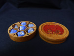 Buy Round dice boxwith optional miniature holder and choice of top pattern/logo from Mystic Piegon Gaming