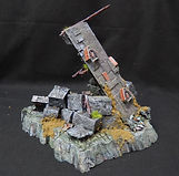 Fallen tower scatter train / diorama