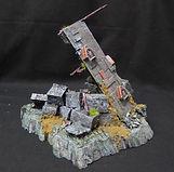 Fallen tower scatter train / diorama
