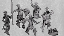 Aztec Warrior Clerics/Fighter Mini Pack (Digital Files for home 3D printing)