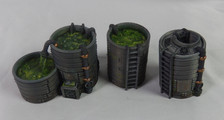 Chemical Vats 3D table top terrain