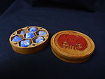 Buy Round dice box with optional minature holder STL files for home printing from Mystic Piegon Gaming