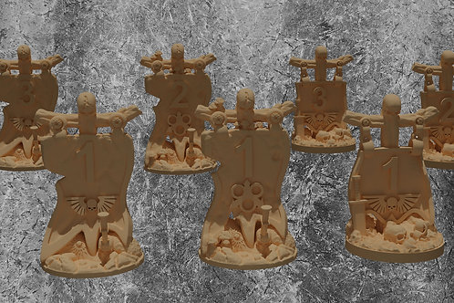 Objective marker pack for Warhammer, kill team and similar tabletop games (STL)