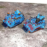 Armoured personal carriers and tank proxies (resin miniatures 40k)