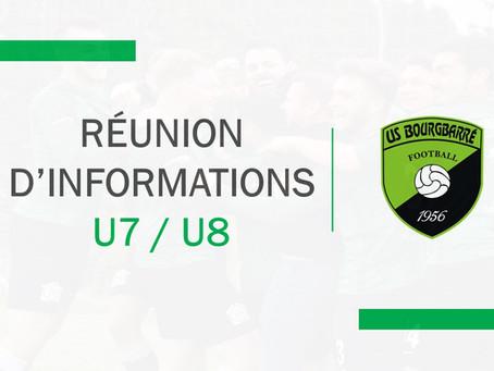 REUNION D'INFORMATIONS U7/U9