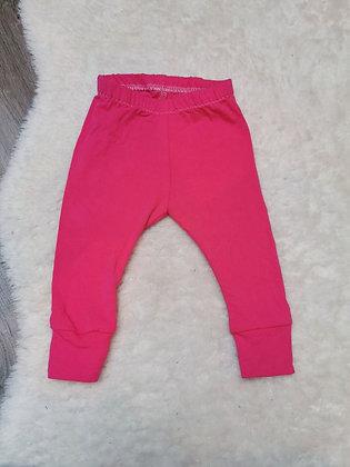 Hot pink legging 3-6m