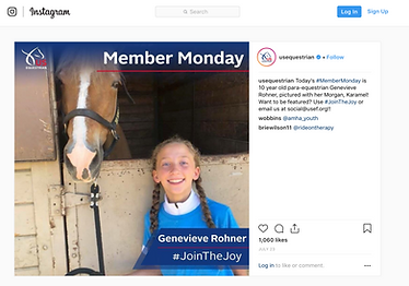 G. Rohner - 2018 USEF Insta #jointhejoy.