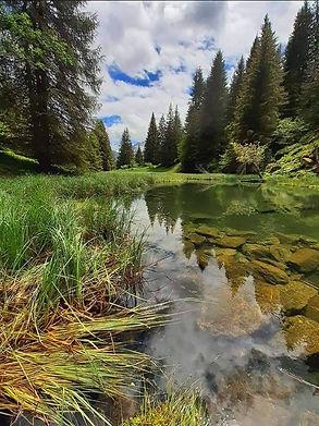 Lac bivouac montagne
