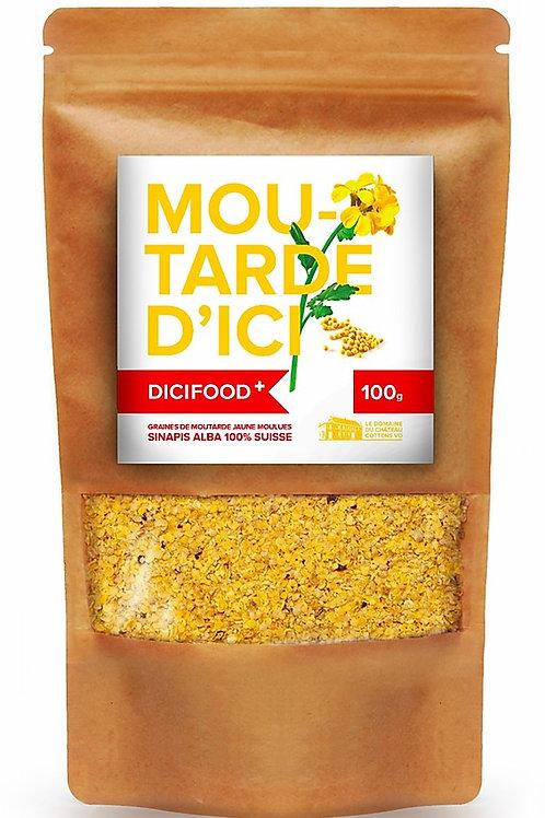 Graines de moutarde jaune moulues
