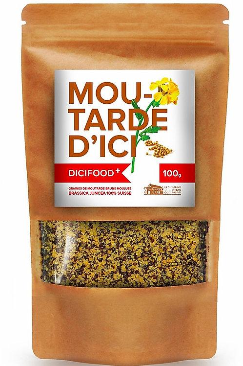 Graines de moutarde brune moulues