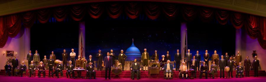 Todos os presidentes no palco. Foto: Disney
