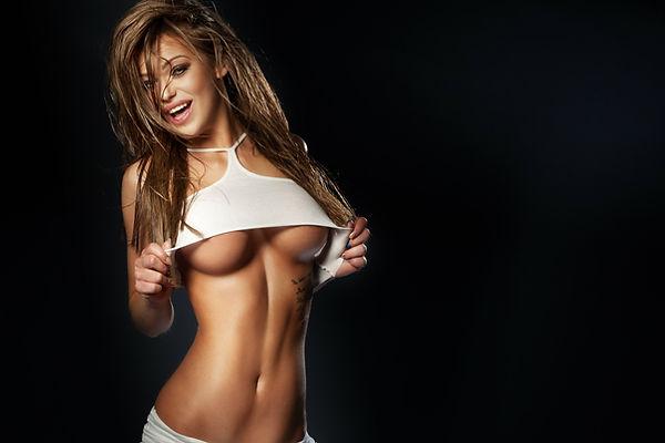 Sexy Female Stripper Sunset