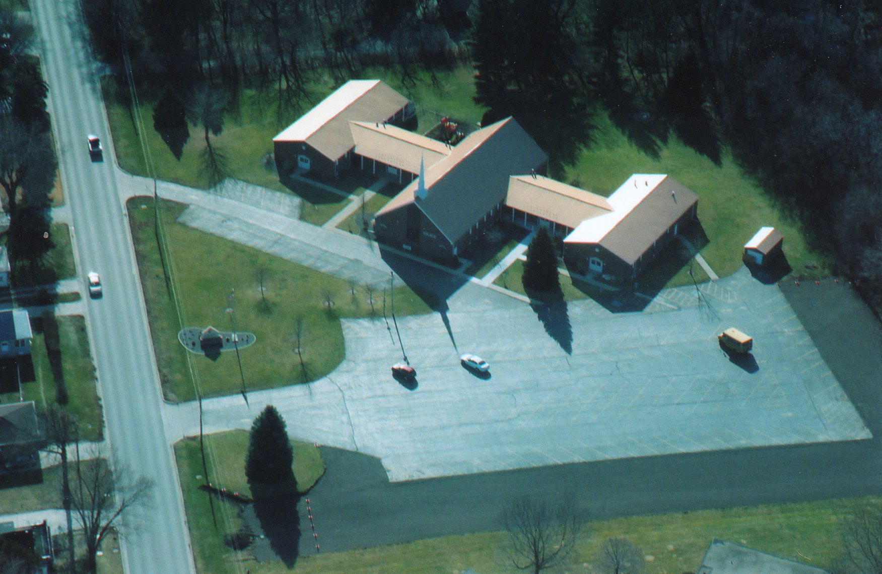 Aerial photo of Grace Church