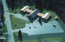 Aerial photo of Grace Church