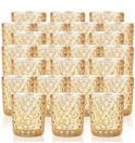 Studded Gold Glass Votive