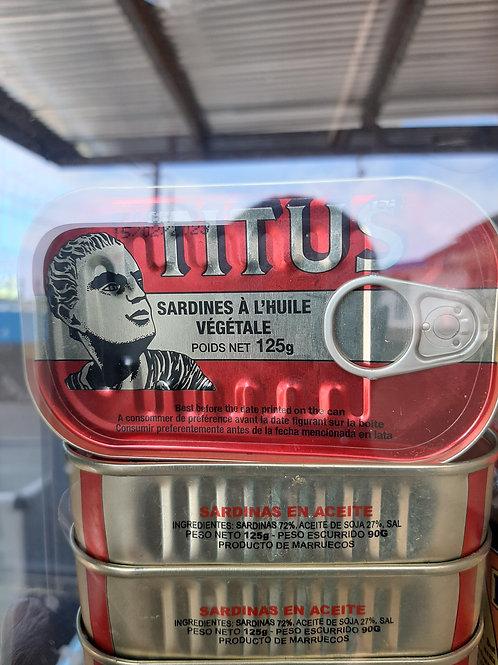 TITUS sardine in vegetable oil 125 g