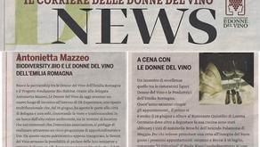 Il Corriere Vinicolo luglio 2019                        Il Corriere delle Donne del Vino